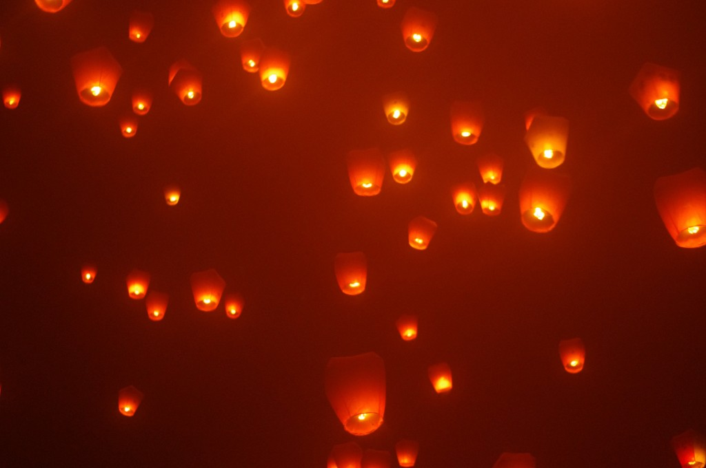 Et enfin, lacher de lanternes célestes à Shifen, c'était juste magique <3