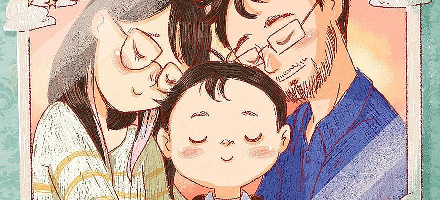 portrait famille avec Arthur